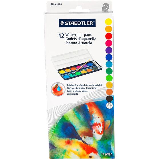 Staedtler Watercolour Pans Set - 12 colours