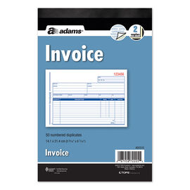 Adams Invoice Book - 2 Part - 50's