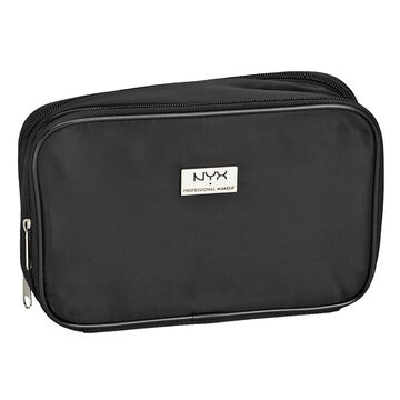 NYX Large Double Zipper Makeup Bag - Black