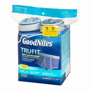 Goodnites Trufit Boy's - 7's - Large/Extra Large