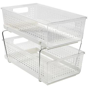 Madesmart 2 Tier Organizer - Clear
