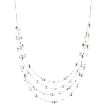Nine West 16-inch Multi Row Necklace - Silver Tone