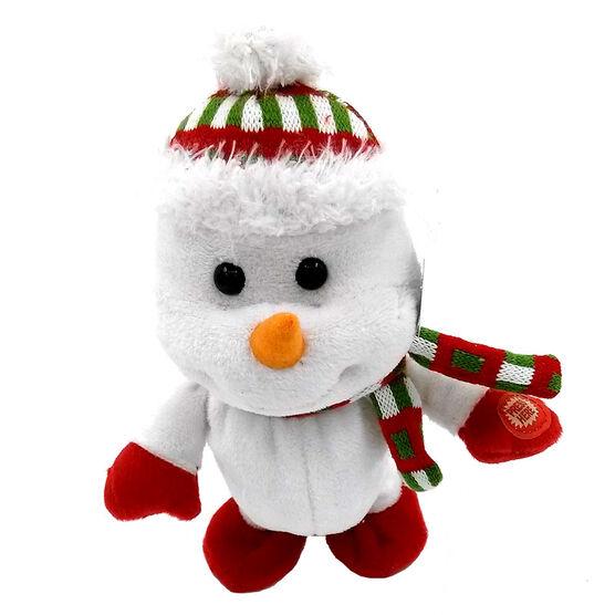 Animated Walking Snowman - 23cm - HTJ 1256 B