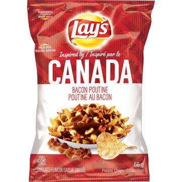 Lays Potato Chips - Bacon Poutine - 66g