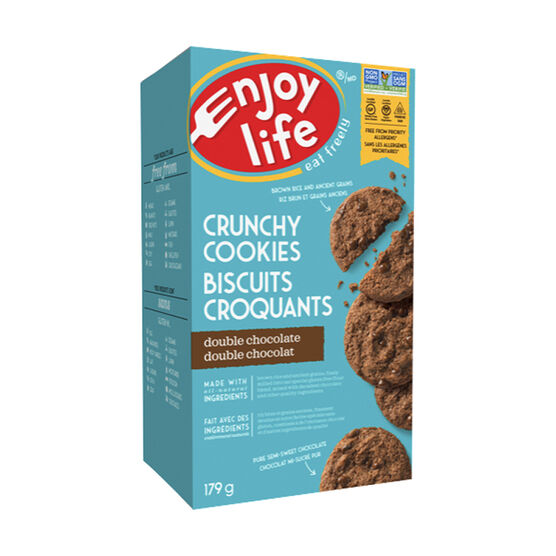 Enjoy Life Gluten Free Crunchy Cookies - Double Chocolate - 179g