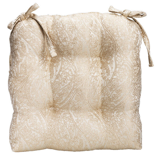London Drugs Jacquard Chairpad - Beige - 41 x 42cm