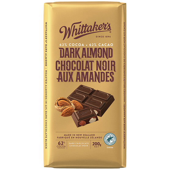 Whittaker's Dark Chocolate - Almond - 200g