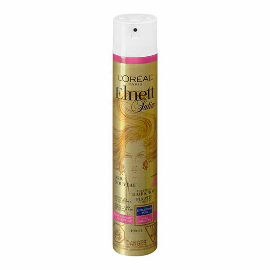 L'Oreal Elnett Satin Volume Hairspray with Pro-Keratine - Extra Strong Hold - 400ml