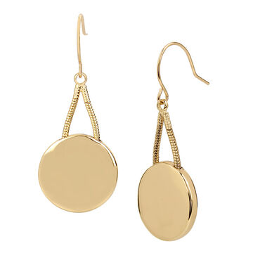 Kenneth Cole Circle Drop Earring - Gold