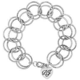 Betsey Johnson Circle Link Bracelet - Silver Tone