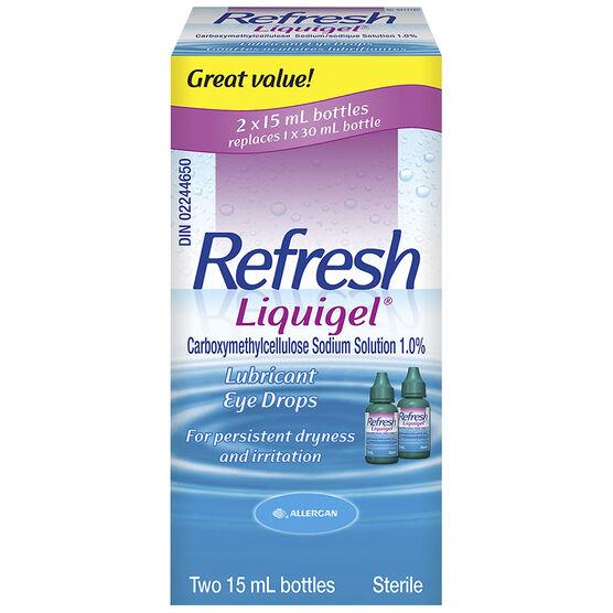 Refresh Liquigel Lubricant Eye Drops - 2x15ml