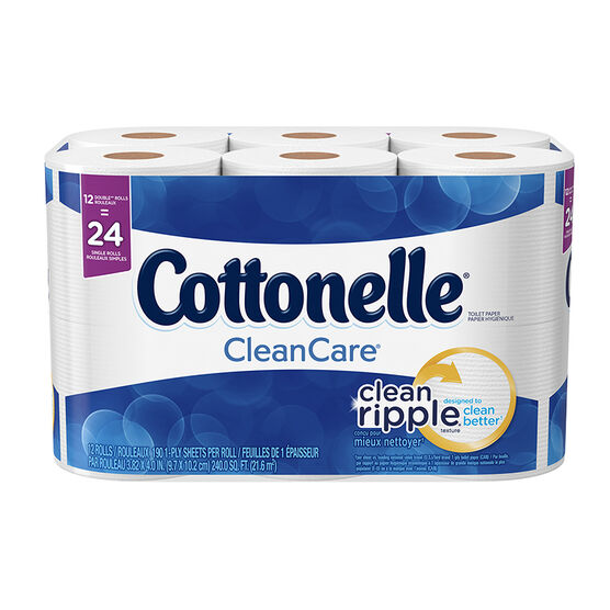 Cottonelle Clean Care Bathroom Tissue - 12's / Double Rolls