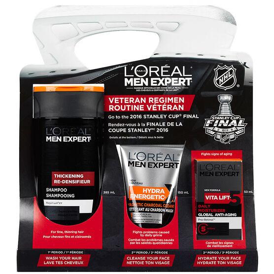 L'Oreal Men Expert NHL Veteran Regimen Kit - 3 piece