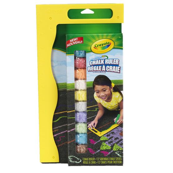Crayola Washable Sidewalk Chalk Ruler