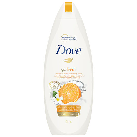Dove Go Fresh Revitalize Body Wash - Mandarin and Tiare Flower - 354ml