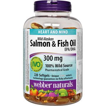 Webber Naturals Wild Alaskan Salmon & Fish Oil Softgels - 220's