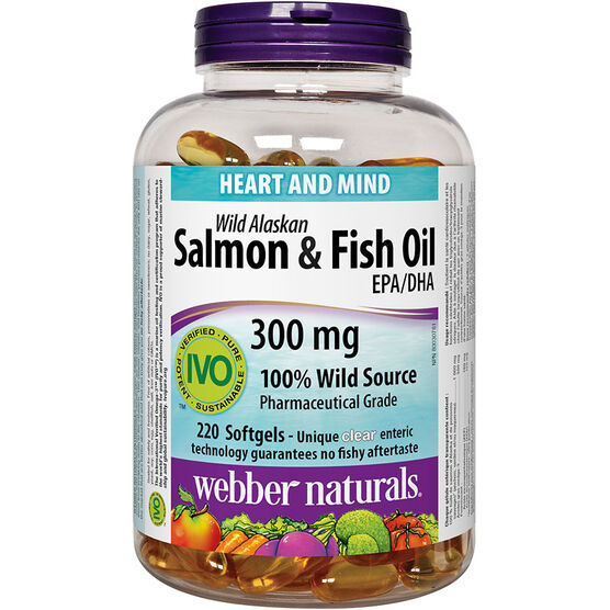 Webber Naturals Wild Alaskan Salmon & Fish Oil Softgels - 220's