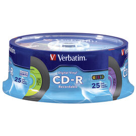 Verbatim Digital Vinyl 700MB CD-R Spindle - 25 pack