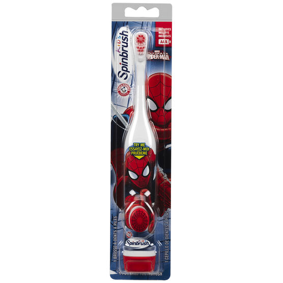 Spinbrush Kids Battery Toothbrush - Spiderman