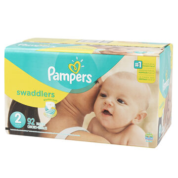 Pampers Swaddlers Diapers - Size 2 - 92's