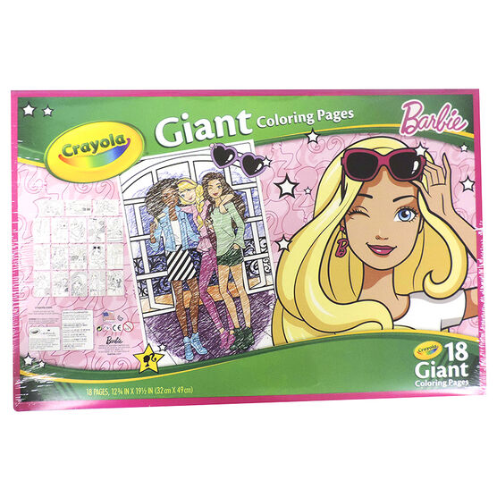 Crayola Giant Colouring Pages - Barbie