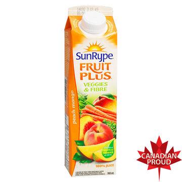 SunRype Fruit Plus Juice - Peach Mango - 900ml