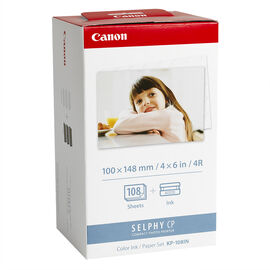 Canon KP-108IP Colour Ink & Paper Set - 108 Sheets