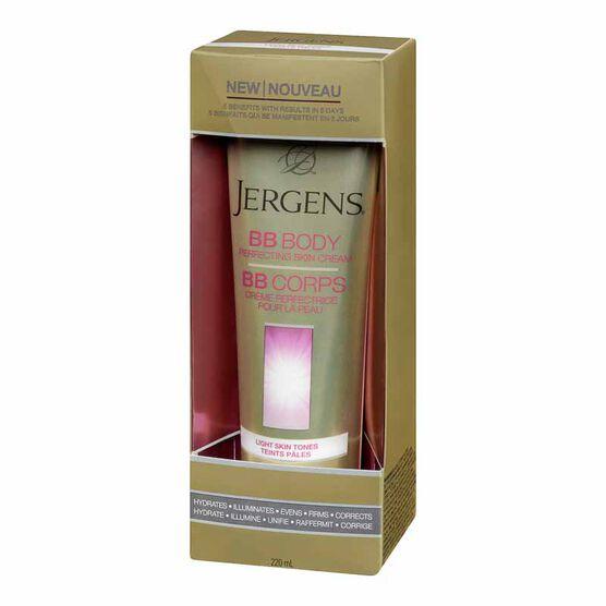 Jergens BB Body Perfecting Skin Cream - LightSkin Tones -220ml