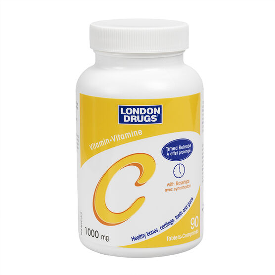 London Drugs Vitamin C Timed Release with Rosehips - 1000mg - 90's