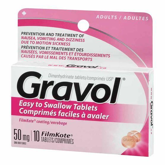 Gravol Tablets 50mg - 10's