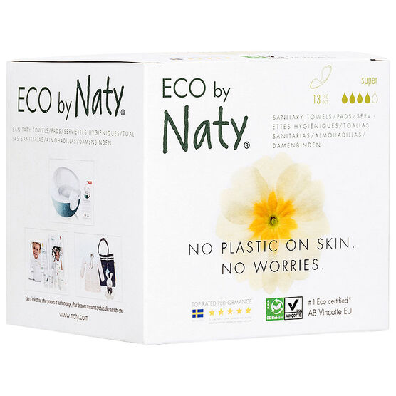 Naty Thin Sanitary Towels - Super - 13's
