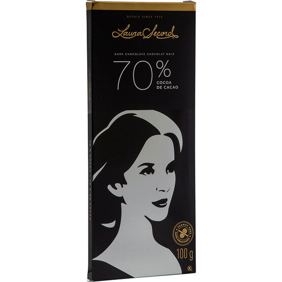 Laura Secord Dark Chocolate Bar - 70% Cocoa - 100g