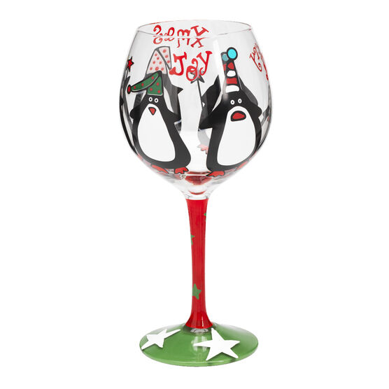 London Drugs Hand Painted 18 oz Wine Glasses - Assorted