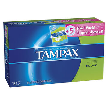 Tampax Tampons - Super - 105's