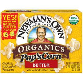 Newman's Own Organics Butter Popcorn - 281g