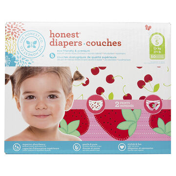 Honest Diapers - Size 5 - 50's - Girls