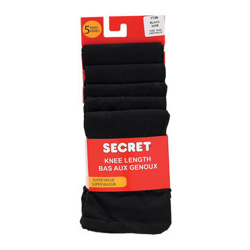Secret Trouser Socks - Black - 5 pair