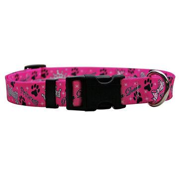 Yellow Dog Collar - Diva Pink - Small