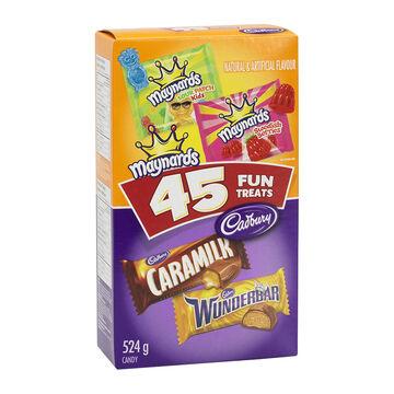 Cadbury Chocolate and Maynards Candy Fun Treats - Assorted - 45's