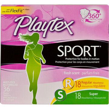 Playtex Sport Fresh Balance Tampons - Regular/Super - 32's