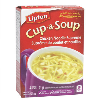 Knorr Lipton Cup-A-Soup Chicken Noodle Supreme Instant Soup Mix - 4 pack/61g
