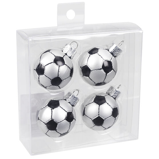 Winter Wishes Mini Soccer Ball Ornaments - Set of 4 -XLD2016-12UFOB