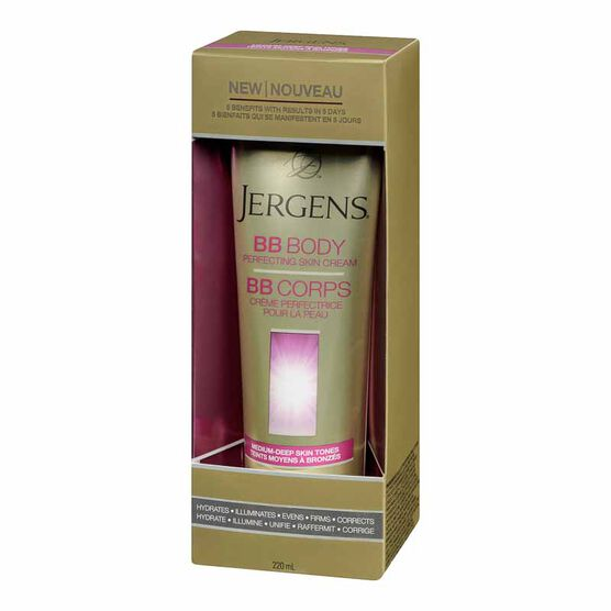 Jergens BB Body Perfecting Skin Cream - Medium-Deep Skin Tones - 220ml