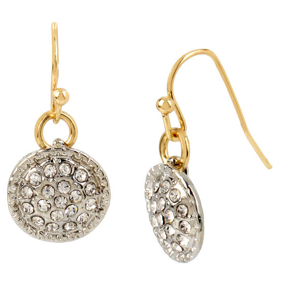 Haskell Disc Drop Earrings - Gold
