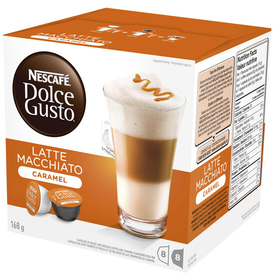 Nescafe Dolce Gusto Two Part Coffee Pods - Caramel Latte Macchiato - 8's