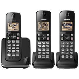 Panasonic 3 Handset Cordless Phone - Black - KXTGC383B