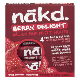 Nakd Raw Fruit & Nut Bars - Berry Delight - 4 x 35g