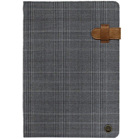 PKG Universal Folio Case for 10-11-inch Tablets - Black Plaid