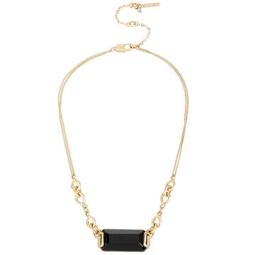 Kenneth Cole Short Pendant - Jet/Gold Plated