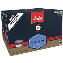 Melitta Single Serve Coffee - Traditional - 12 Servings